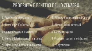 Benefici e proprietà dello zenzero
