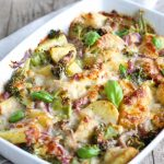 Patate gratin broccoli cipolle