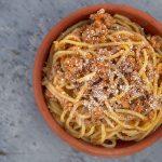 ricetta ragù bolognese pasta