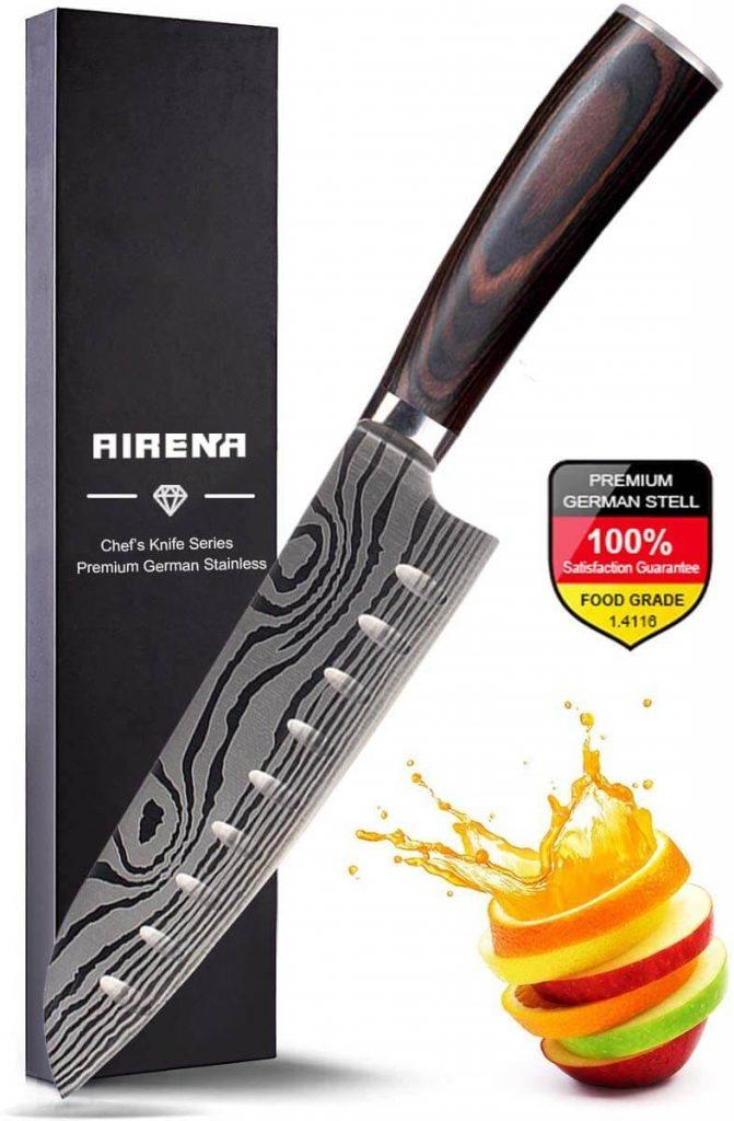 coltello cucina giapponese santoku airena
